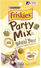 Friskies Party Mix Natural Yums with Real Chicken Cat Treats 2.1oz
