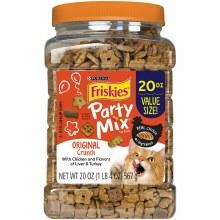 Friskies Party Mix Original Crunch Adult Cat Treats 20oz