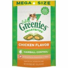 Feline Greenies Smartbites Hairball Control Treats Chicken Flavor 4.6oz