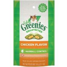 Feline Greenies Smartbites Hairball Control Treats Chicken Flavor 2.1oz