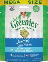 Feline Greenies Dental Treats Tempting Tuna Flavor 4.6oz