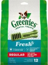 Greenies Fresh Regular Size Dental Dog Treats 12 Pack