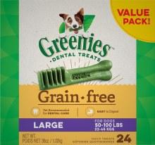 Greenies Grain Free Large Dog Dental Treats 24 Pack