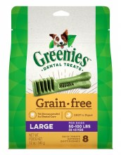 Greenies Grain Free Large Dog Dental Treats 8 Pack