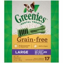 Greenies Grain Free Large Dog Dental Treats 17 Pack