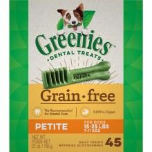 Greenies Grain Free Petite Dog Dental Treats 45 Pack