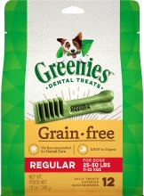 Greenies Grain Free Regular Dog Dental Treats 12 Pack
