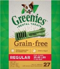 Greenies Grain Free Regular Dog Dental Treats 27 Count