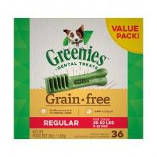 Greenies Grain Free Regular Dog Dental Treats 36 Pack