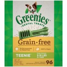Greenies Grain Free Teenie Dog Dental Treats 96 Pack