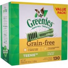 Greenies Grain Free Teenie Dog Dental Treats 130 Pack
