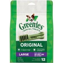 Greenies Original Large Dog Dental Treats 12 Pack