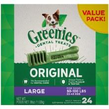 Greenies Original Large Dog Dental Treats 24 Pack