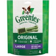 Greenies Original Large Dog Dental Treats 4 Pack