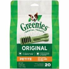 Greenies Original Petite Dog Dental Treat 20 Pack