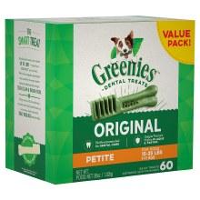 Greenies Original Petite Dog Dental Treat 60 Pack