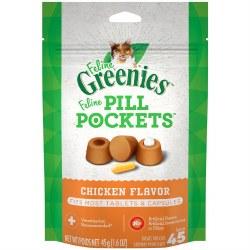 Feline Greenies Pill Pockets Treats Chicken Flavor 1.6oz