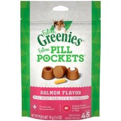 Feline Greenies Pill Pockets Treats Salmon Flavor 1.6oz