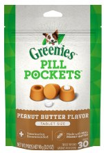 Greenies Pill Pockets Treats Peanut Butter Flavor for Tablets 3.2oz