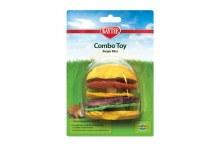 Kaytee Crispy Wood Hamburger Combo Toy