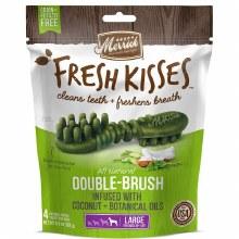 Merrick Fresh Kisses Coconut Oil Dental Treats for Large Dogs 4 Pack 6.5oz
