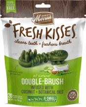 Merrick Fresh Kisses Coconut Oil Dental Treats for Extra Small Dogs 20 Pack 6oz