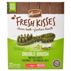 Merrick Fresh Kisses Coconut Oil Dental Treats for Medium Dogs 22ct