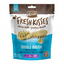 Merrick Fresh Kisses Mint Breath Strips for Large Dogs 4 Pack 6.5oz