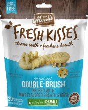 Merrick Fresh Kisses Mint Breath Strips for Extra Small Dogs 20 Pack 6oz