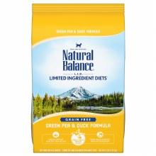 Natural Balance Adult Cat Grain-Free Duck and Pea Formula 5lb