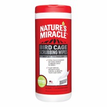 Nature's Miracle Bird Cage Scrubbing Wipes 30 Count