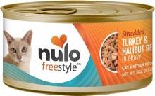 Nulo Cat Grain Free Freestyle Shredded Turkey and Halibut Recipe in Gravy 3oz