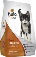 Nulo Cat and Kitten Grain Free Freestyle High-Meat Kibble Turkey and Duck 5lb