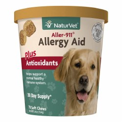 NaturVet Aller-911 Allergy Aid Soft Chews 70ct