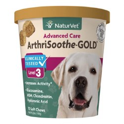 NaturVet ArthriSooth-GOLD Advanced Care Level 3 Soft Chews 70ct