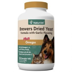 NaturVet Brewers Dried Yeast Formula with Garlic Flavoring Chewable Tabs 500ct