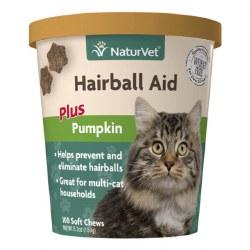 NaturVet Hairball  Aid Plus Pumpkin 100ct