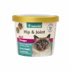 NaturVet Hip and Joint Cat Soft Chews 60ct