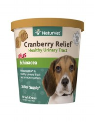 NaturVet Cranberry Relief Healthy Urinary Tract 60ct