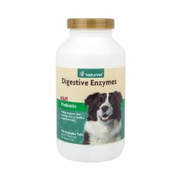 NatureVet Digestive Enzymes Chewable Tablets with Prebiotics and Probiotics 90ct