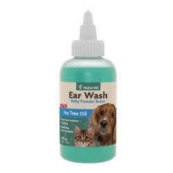 NaturVet Ear Wash Liquid with Tea Tree Oil 4oz