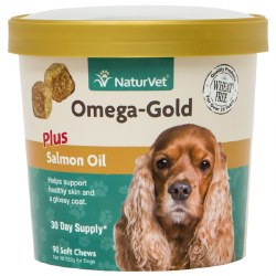 NaturVet Omega Gold Chews with Salmon Oil 90ct