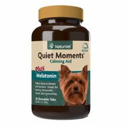 NaturVet Quiet Moments Calming Aid Plus Melatonin Cheweable Tabs 30ct
