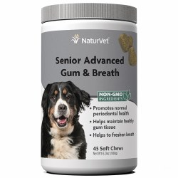 NaturVet Senior Advanced Gum and Breath Soft Chews 45ct