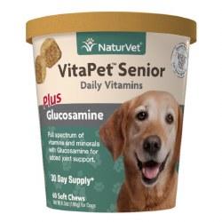 NaturVet VitaPet Senior Daily Vitamins Soft Chews 60ct