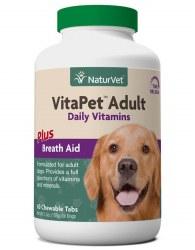 NaturVet VitaPet Senior Daily Vitamins Tablets 60ct