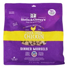 Stella & Chewy's Cat Freeze-Dried Raw Chick, Chick Chicken Dinner Morsels Formula 18oz