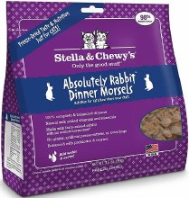 Stella & Chewy's Cat Freeze-Dried Raw Absolutely Rabbit Dinner Morsels 3.5oz