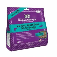 Stella & Chewy's Cat Freeze-Dried Raw Sea-Licious Salmon and Cod Dinner Morsels 9oz