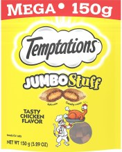 Temptations Jumbo Stuff Tasty Chicken Flavor Treats 5.29oz